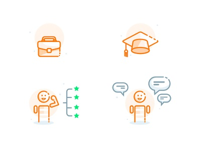 Newbees Spot Illustrations  languages work experience education skills spot illustration