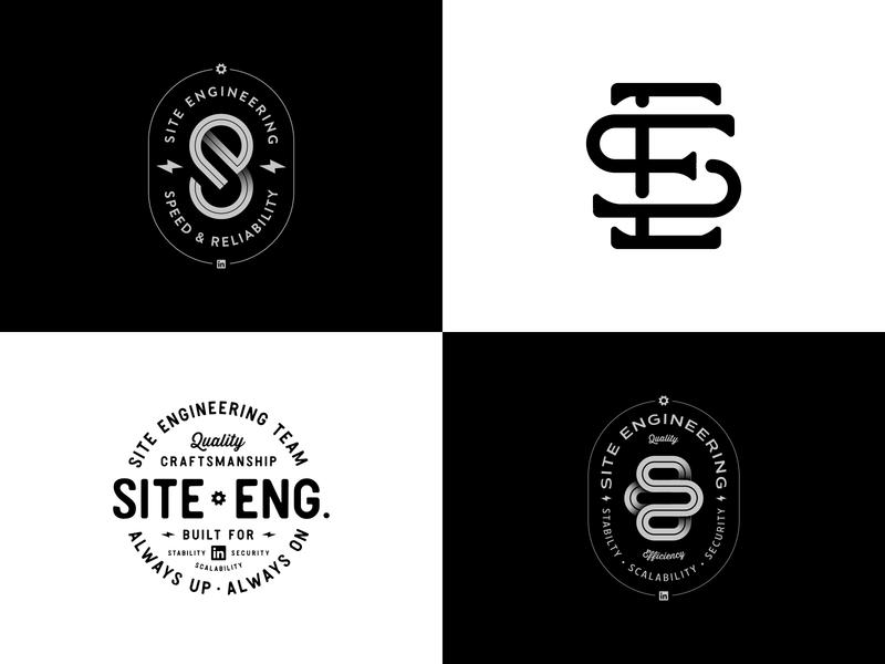 LinkedIn Site Engineering Team Swag logo monogram lockup badge branding linkedinued linkedindesign lettering illustration t-shirt swag