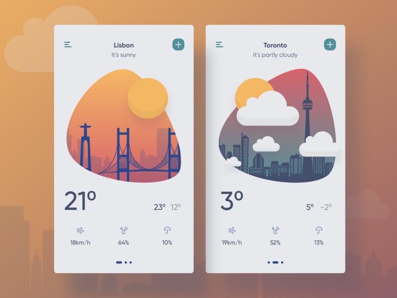 Weather 037 illustration design mobile productdesign dailyui ux ui