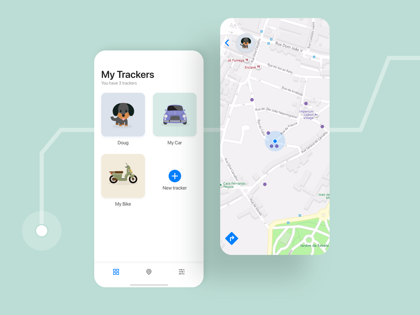 Location Tracker mobile app mobile product design ui ux dailyui