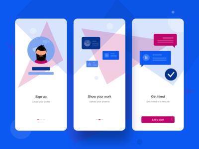 onBoarding mobile app mobile productdesign dailyui ux ui