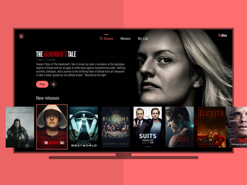 Smart TV App 025 design productdesign dailyui ux ui