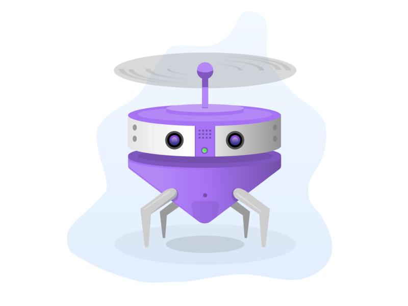 Bugbot warmup design vector illustration