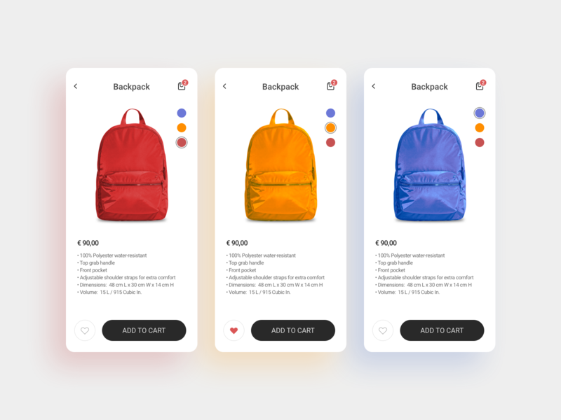 Customize product mobile app mobile dailyui ux ui productdesign