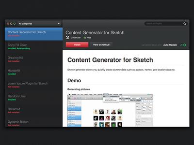 Sketch toolbox UI proposal