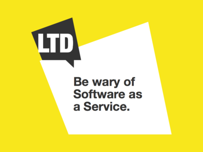 Article - Be Wary of Software as a Service