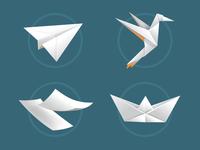 Origami elements