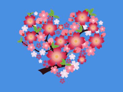 Happy Valentine's Free Sketch Flowers Wreath