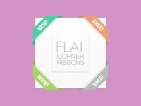 Weekly Pixels Freebie Flat Corners