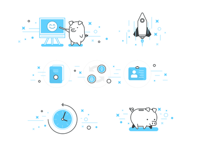 Piggies for Scatter piggy sketch crypto currency eos scatter