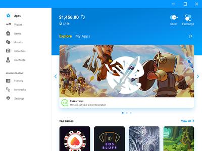 Gs Desktop Apps Explore dapps apps scatter wallet crypto