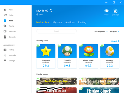 Gs Desktop Items Marketplace virtual marketplace nft currency crypto scatter