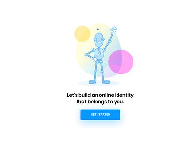 scatter build your identity roboto robot illustration crypto design scatter illustrator sketch
