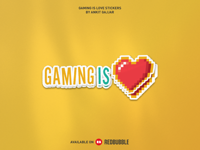 Gaming Is Love Sticker illustration dribbble photoshop design logo logos graphic design esports esports logo gaming gaming logo twitch streamer streamers stream game icon game art game