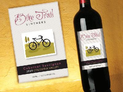 Bike Trail Vintners Wine Label packaging graphic design