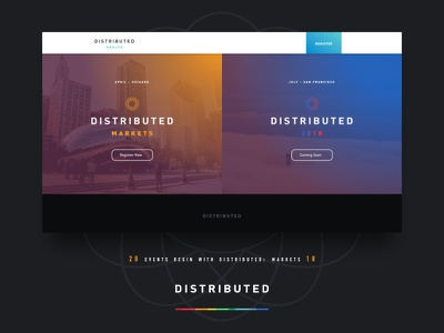 Distributed Events – Conference Site Design web design healthcare markets conference events magazine btc blockchain bitcoin distributed