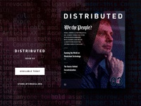 Distributed 03 – Print Publication generative design print crypto cryptocurrency magazine btc blockchain bitcoin distributed