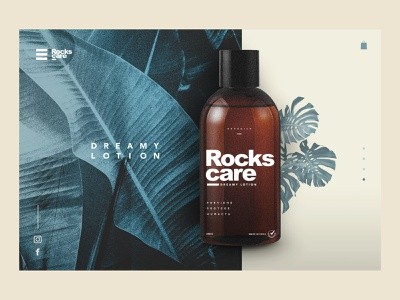 Concept website ROCKSCARE© homepage uidesigner packagingdesign web marca diseño logodesign ui ui designs web design website