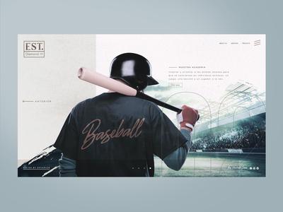 Concept website BASEBALL DIAMOND©