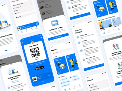 Tool Rental Project sketch code qr locker rental app android ios