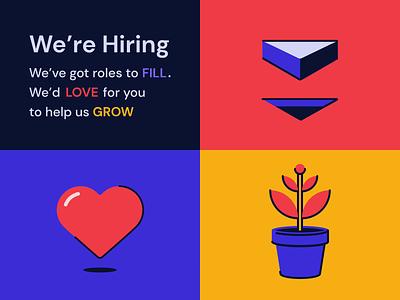 Hiring Senior Digital Product Designer plant heart hiring animation motion graphics graphic design