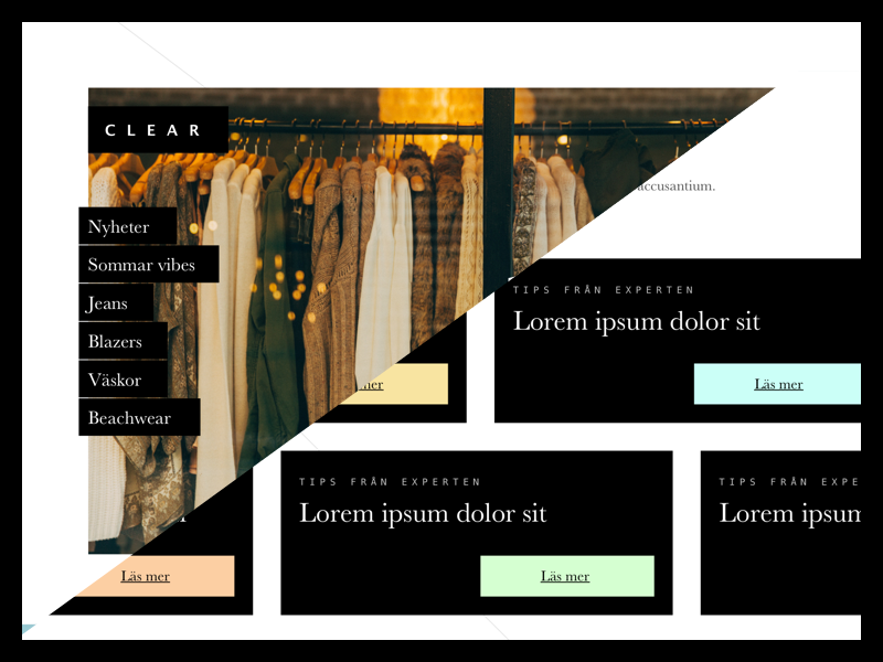 Trendy clothing shop web shop trendy
