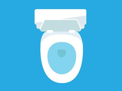 The Porcelain Throne - Toilet commode bath throne potty bathroom toilet