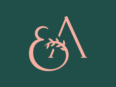 EA Monogram (More Friends Getting Married) typography wax seal logo wedding modernist branding minimalist wordmark monogram vector