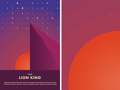 Circle of Life geometric bauhaus vector illustration gallery canvas minimalist movie lion king poster