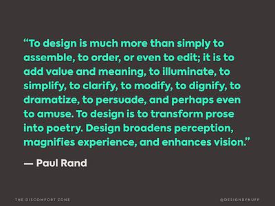 Realness from Rand minimalist typogaphy slide deck paul rand slides conference speaking presentation design quote