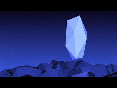 Facets: Float minimalist animation generative art touchdesigner geometric crystal facets motion graphics new media installation art exhibition