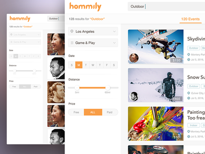 Searching Filter & Results web web design graphic design user experience design ux design ux product design user interface design user interface flat ui design ui