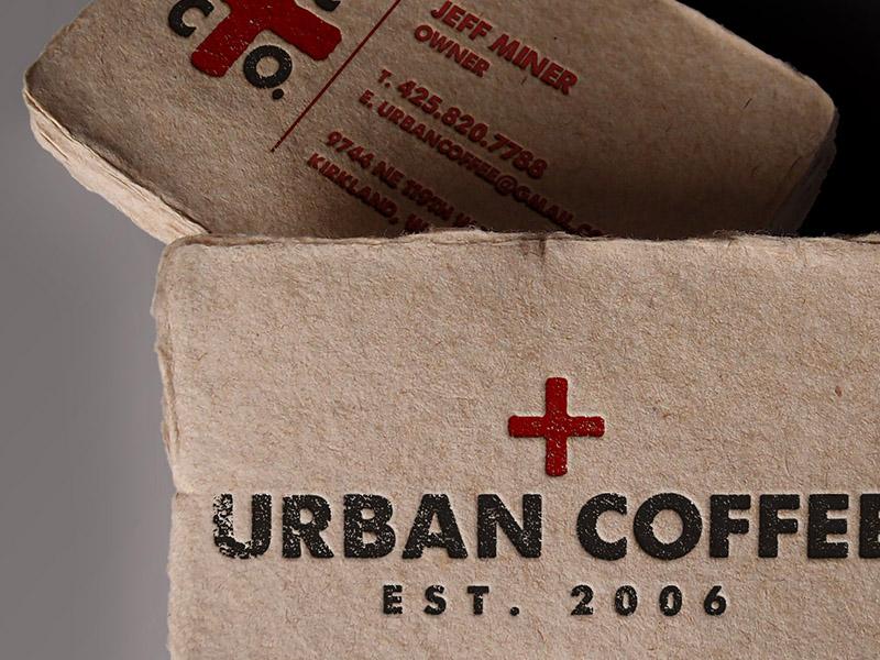 Urban Coffee Biz Card  rebrand package design urban coffee moussecreative