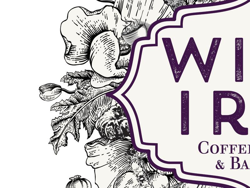 Wild Iris Coffeehouse Logo wild iris coffee logo