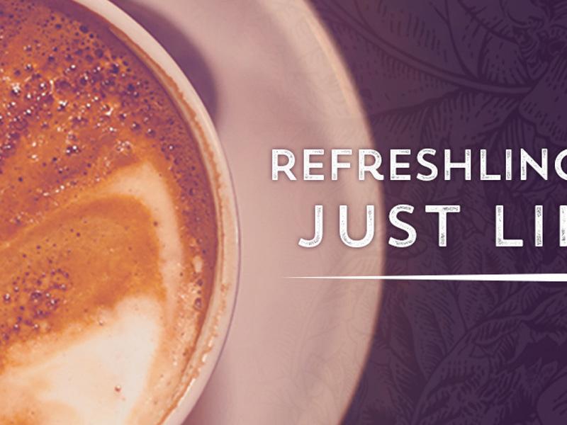 Wild Iris Coffeehouse Ad wild iris coffee design ad
