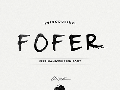 Fofer Font graphic design handwritten typography free font