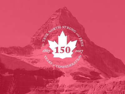 Strong and Free branding canada type typography