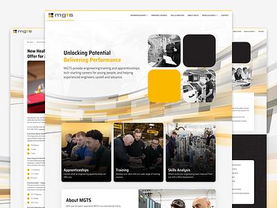 MGTS website design engineering navigation design ui ux branding logo business homepage design web design