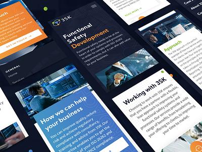 Responsive website design for 3SK technology modern responsive website responsive design navigation interface ux ui design web design