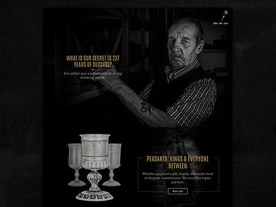 AE Williams Website Design web design ux design industrial ui