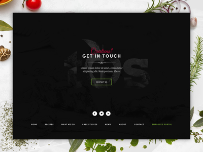 Footer design for catering company restaurant food catering ux ui interface web design footer design