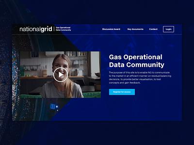 National Grid Gas Data Community header head rig gas energy business banner homepage design homepage header navigation design web design
