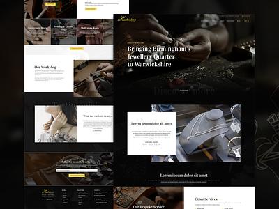 Homepage design for bespoke jewellery designer homepage design ux ui homepage design business header interface web design