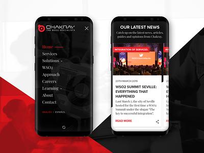 Chakray.com - mobile design iot business navigation nav ui homepage design mobile ux interface design web design
