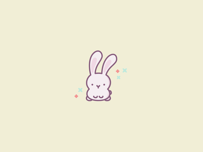 Bunny Icon pastel colours pastel colors pastel color pastel kawaii cute illustration cute animals cute animal rabbit illustration rabbit logo rabbit bunny illustration bunny logo bunny illustrator minimal minimalist illustration icon modern