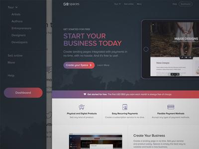 WIP - GoSpaces - New homepage
