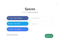 Spaces login before