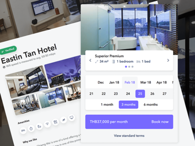 Nomad Rental - Booking Flow Redesign invitation cards ux ui responsive mobile hotel button form listing booking calendar