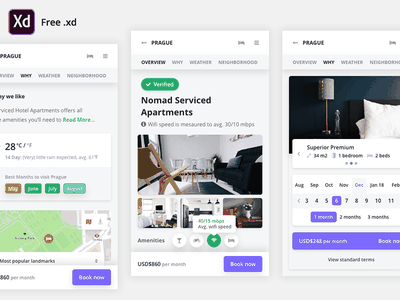 Freebie Mobile Booking .Xd UI Kit template download app ios xd adobe xd ui kit ux free kit ui freebie