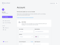 Nomad rental account view